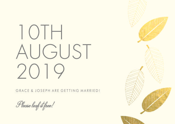 Herbarium Classic Save the Date