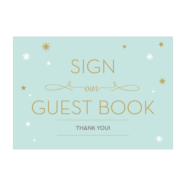 Stardust Sign - 'Sign our guest book'