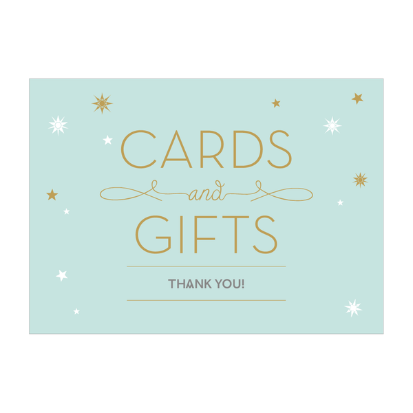 Stardust Sign - 'Cards and gifts, thank you!'