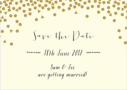 Scatter Classic Save the Date, 3 colour options