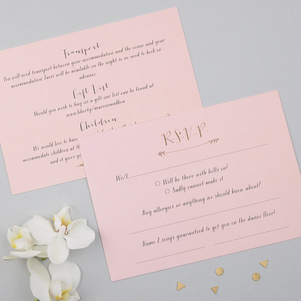 Sample - Scatter Invitation in Gold/Rose