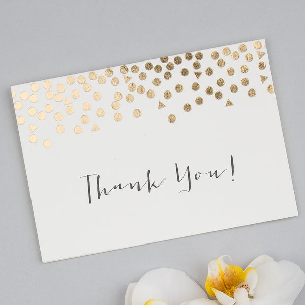 Scatter Classic Foiled Thank You Cards, pack of 10