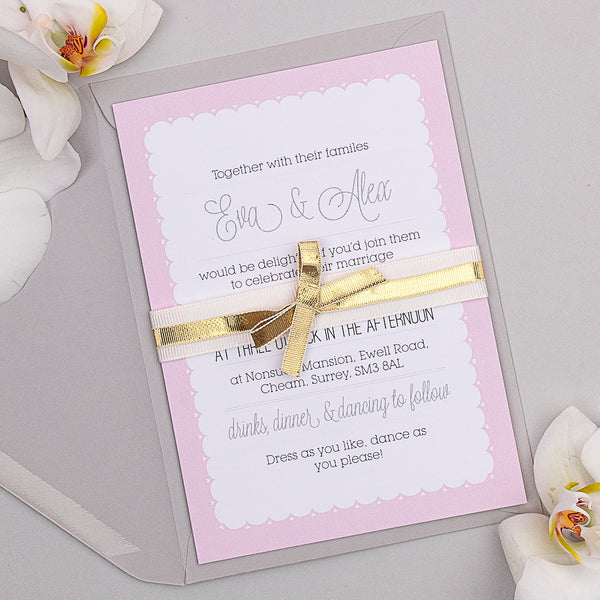 Holly Golightly Invitation suite in Pink