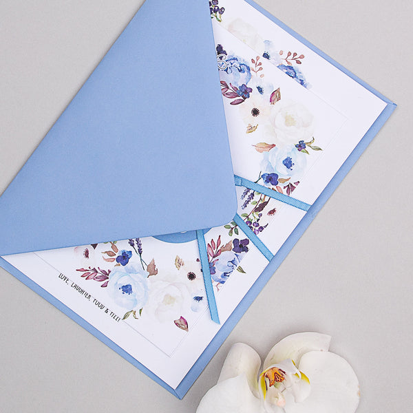 Sample - Floral Affair Invitation in Indigo