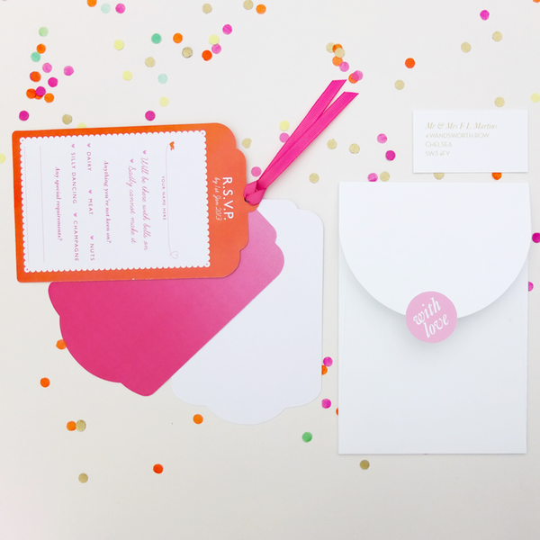 Sample - Cute as Candy Luxe Invitation in Jewel