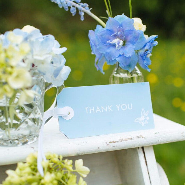 Heritage Sprig Thank You Luggage Tag, 4 colour options