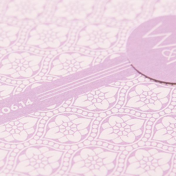 Free Sample - Love Lace Luxe Invitation in Lilac