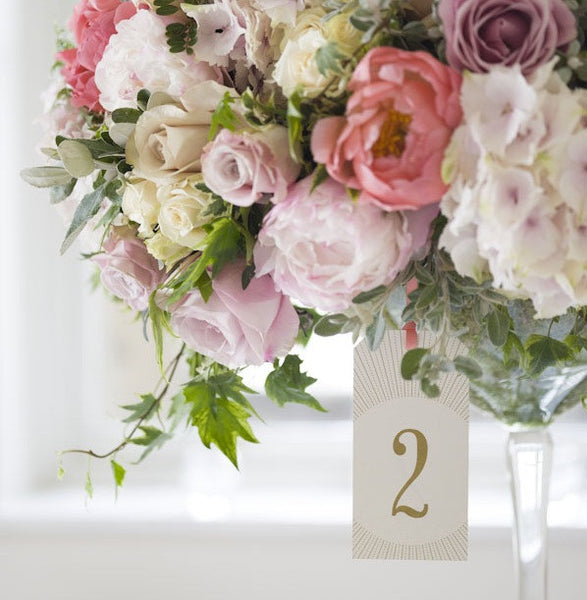 Ivory table number, Wedding Magazine photo shoot Aug2013, by Max Attenborough photography