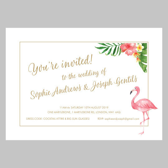 Tropicana Invitation Suite