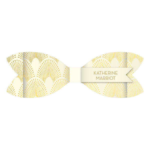 DECOdence Foil Bow Tie Place Card, personalised