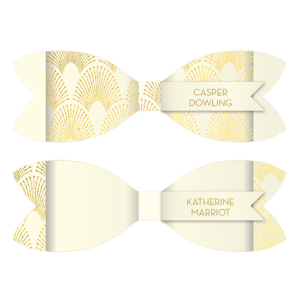 DECOdence Foil Bow Tie Place Card, blank