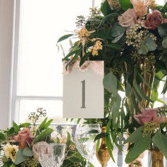Pack of Modern Metallics Classic Table Numbers