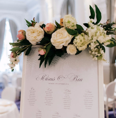 Corinthia Classic Table Plan in Gold, Silver or Lilac foils