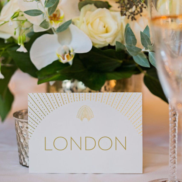 DECOdence Foil Bespoke Table Names