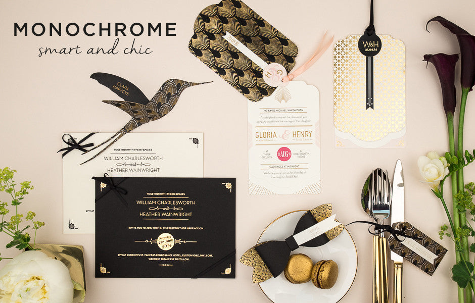 Monochrome Wedding Invitations