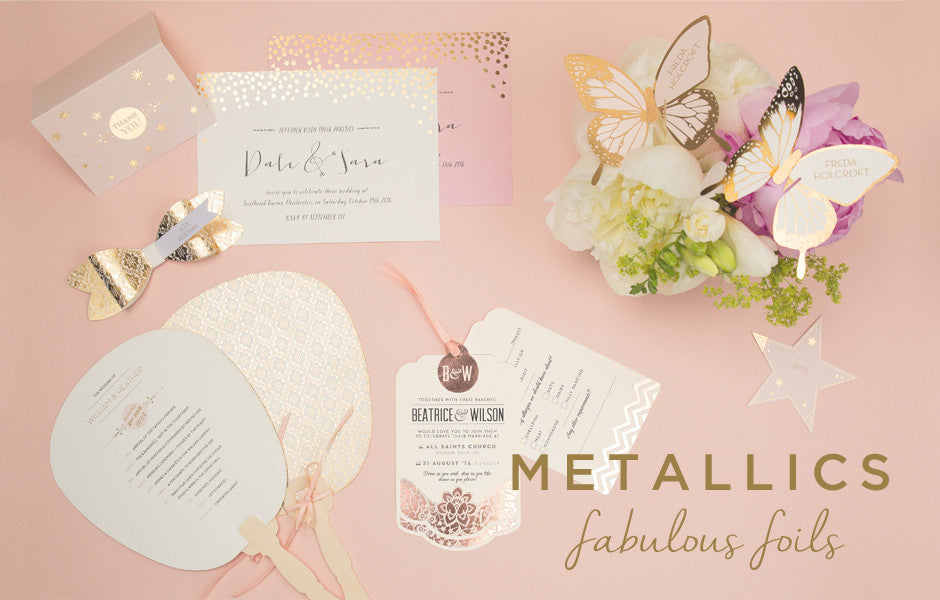 Metalic Wedding Invitations
