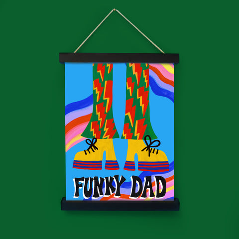 Funky Dad Print in Magnetic Poster Frame