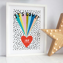 Load image into Gallery viewer, It's Love Personalised Rainbow Print
