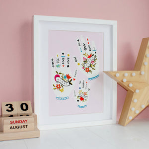 Family Hands Personalised Print