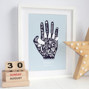 Holding Hands Personalised Print