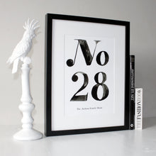 Load image into Gallery viewer, House Number Personalised Print