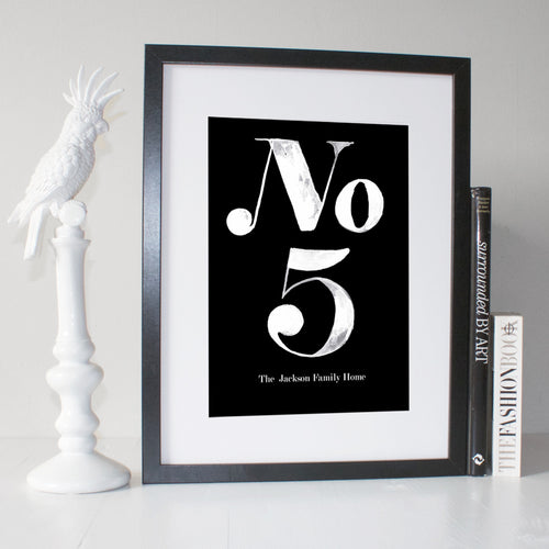 House Number Personalised Print