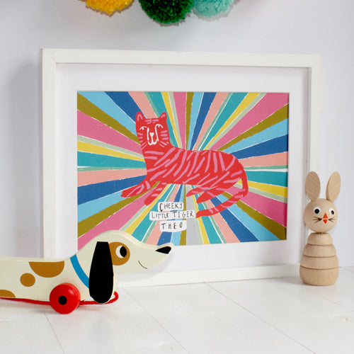 Personalised Rainbow Tiger Print