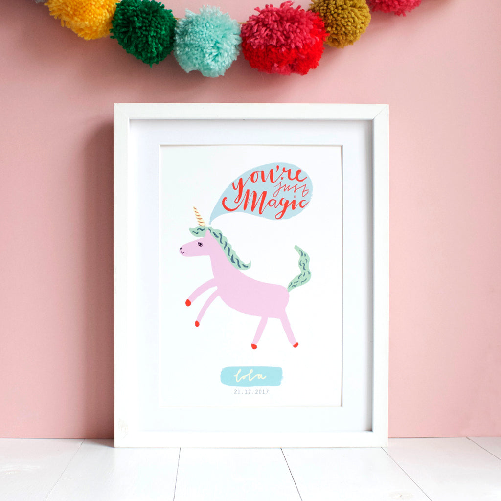 Personalised Unicorn Print Eleanor Bowmer