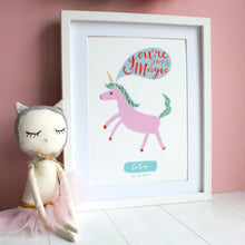 Load image into Gallery viewer, Personalised Unicorn Print