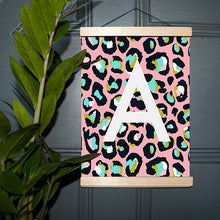 Load image into Gallery viewer, Leopard Print Initial Print