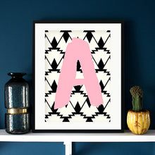Load image into Gallery viewer, Geometric Initial Print