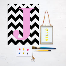 Load image into Gallery viewer, Chevron Initial Print