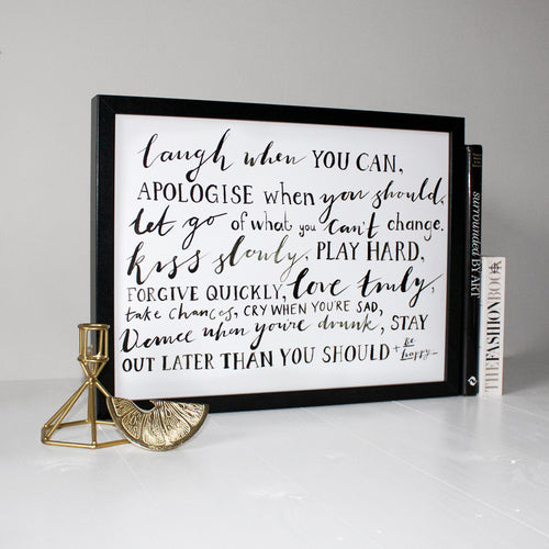 Friendship Quote Typography Print