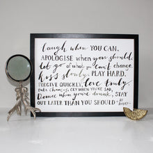 Load image into Gallery viewer, Friendship Quote Typography Print