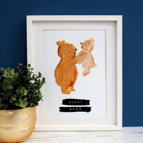Father's Day Daddy Bear Personalised Print