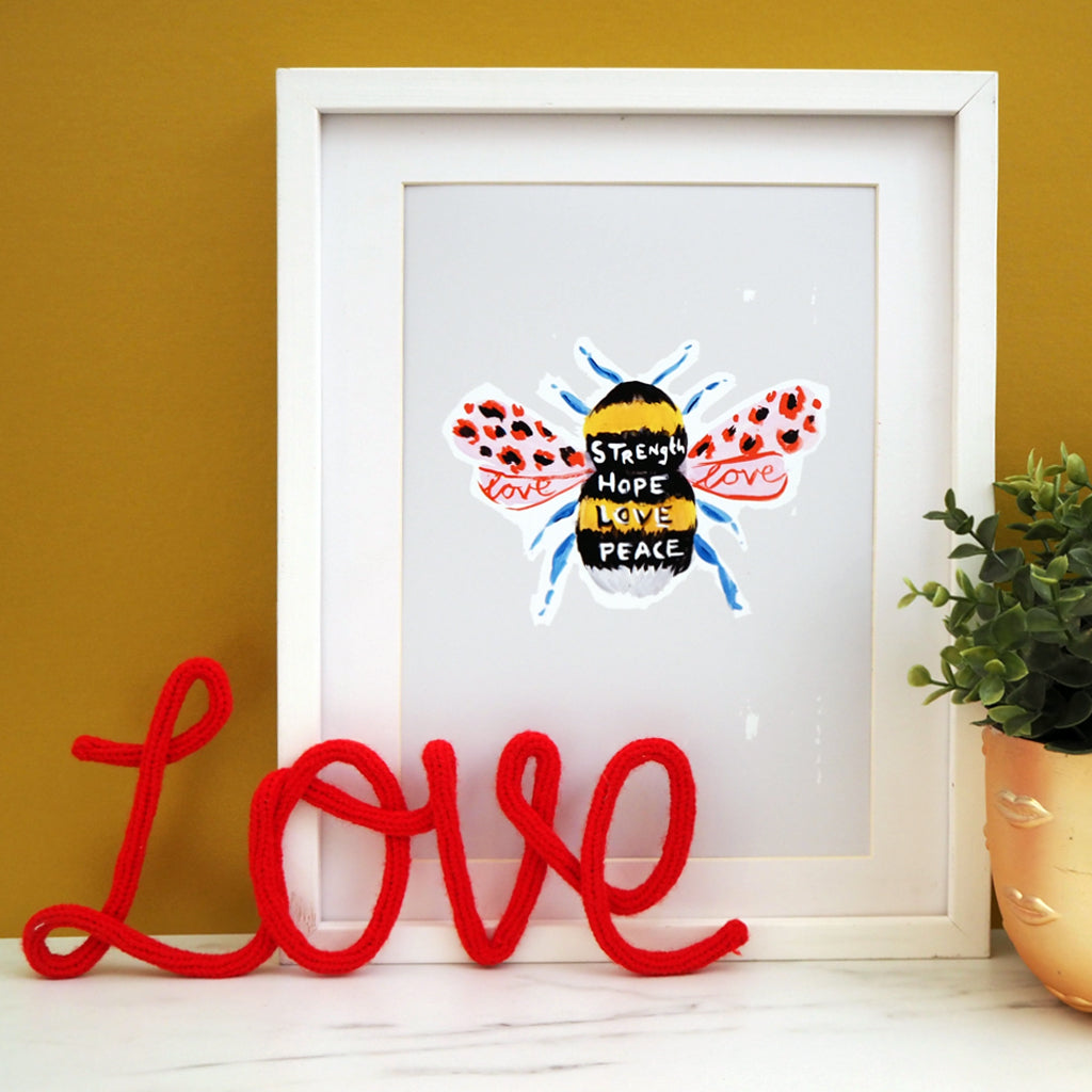 Manchester Bee Print