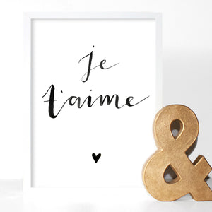 Je T'aime (It's Love) Typography Print