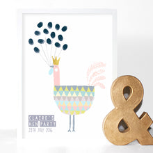 Load image into Gallery viewer, Hen Party Fingerprint Keepsake Print