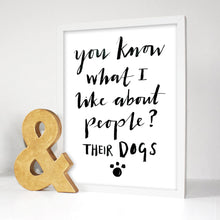 Load image into Gallery viewer, I Like Dogs Typography Print
