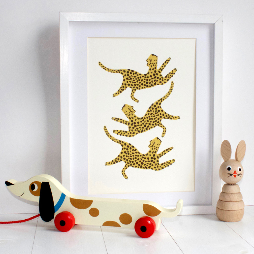 Dancing Leopards Print