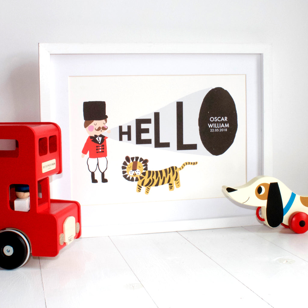 Hello Personalised Ringmaster Print
