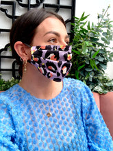 Load image into Gallery viewer, Lilac Leopard Print Face Mask