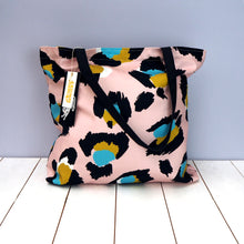 Load image into Gallery viewer, Pink Leopard Tote and Zip Bag Combo