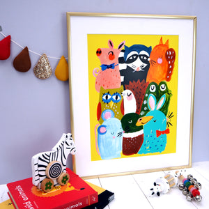 Woodland Animals Print