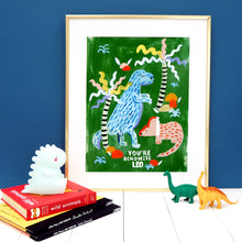 Load image into Gallery viewer, Personalised Dinosaur Print