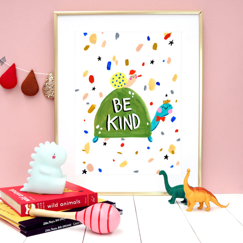 Be Kind Tortoise Print