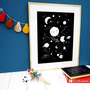 To The Moon Space Print