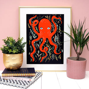 Pretty Octopus Print - Two Colour ways