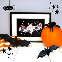 Load image into Gallery viewer, Trick or Treat Halloween Bat Print