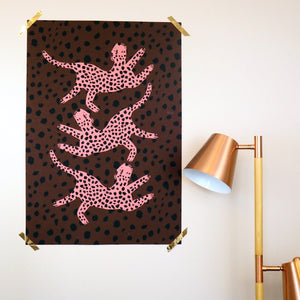 Dancing Leopards Large Scale Print